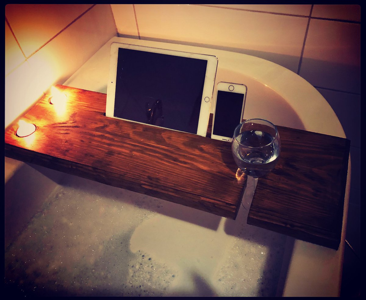 Order yours now in time for Mothers Day. Bespoke bath caddy and GH Mumm candle for £35