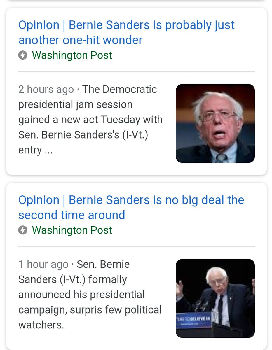 The Washington Post churning out policy free hot takes on Bernie's campaign already. How soon until they break their 16 in 16 hours record?