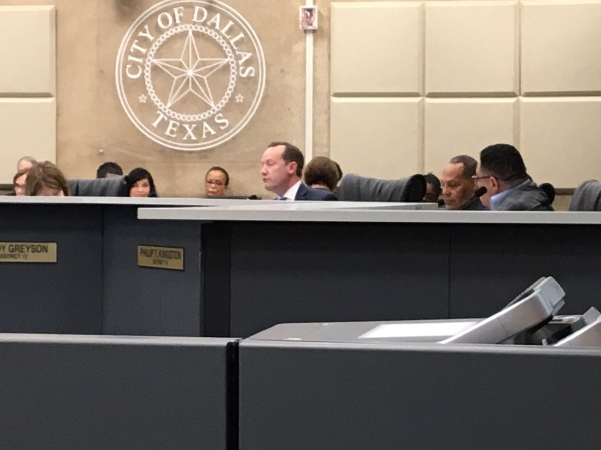 .@PhilipTKingston moves that @visit_dallas contact with @CityOfDallas be terminated. Only @griggsfordallas supports recommending that to the full City Council and that motion dies. But grilling of Phillip Jones continues. @NBCDFW #NBCDFWNow