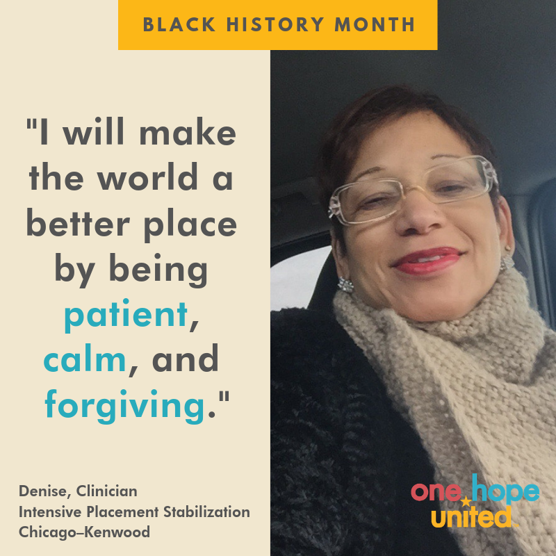 test Twitter Media - We all have something to offer to make the world a better place. Here's how Denise Herron, a clinician in our Intensive Placement Stabilization program, is doing her part. #BlackHistoryMonth #OHUDiversity #patience #calm #forgiveness https://t.co/P1l82gK16f