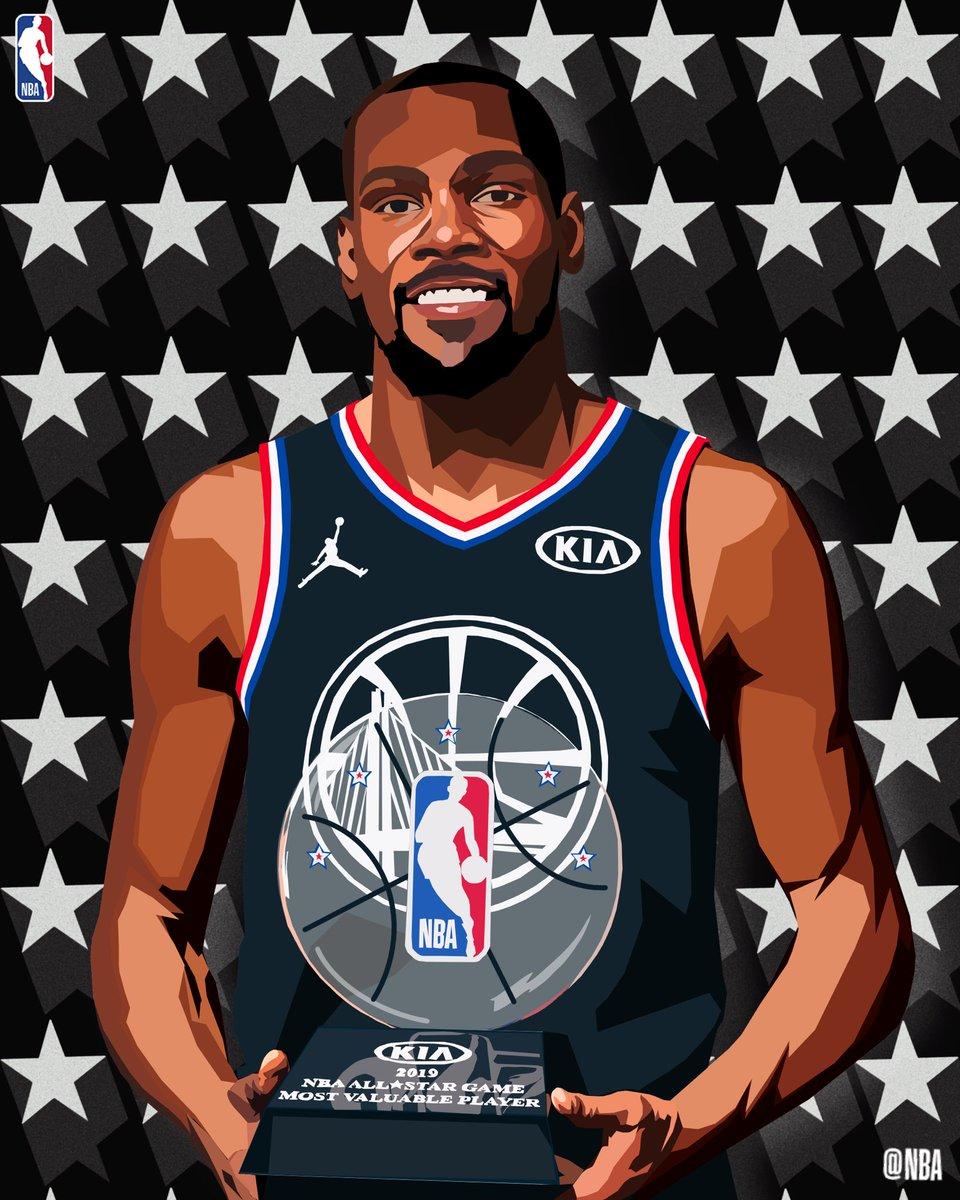 The #KiaAllStarMVP! #NBAart