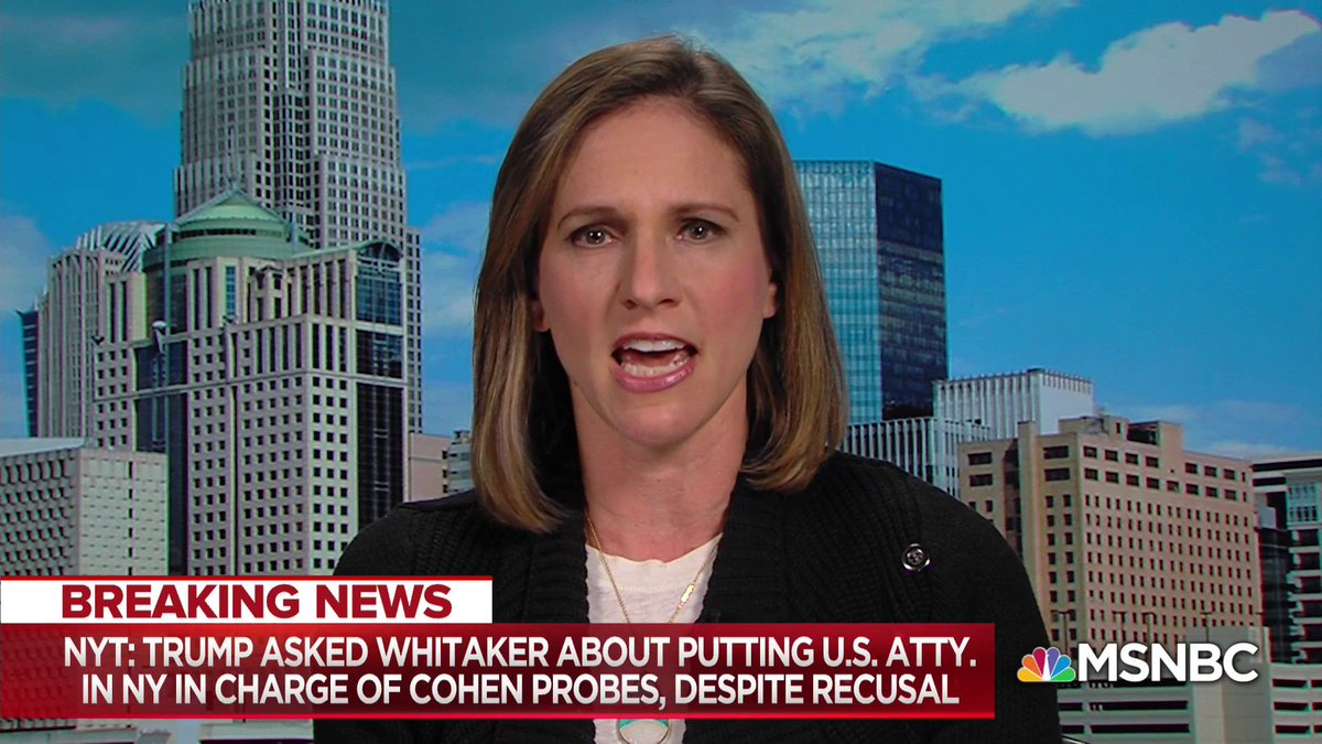 """""""There is no question that [Trump] has known from Day 1… that SDNY's investigation centers on Trump's family, Trump's business, and likely Trump himself… It is just the clearest form of obstruction I think that we've seen"""" - @Mimirocah1 w/ @NicolleDWallace"""