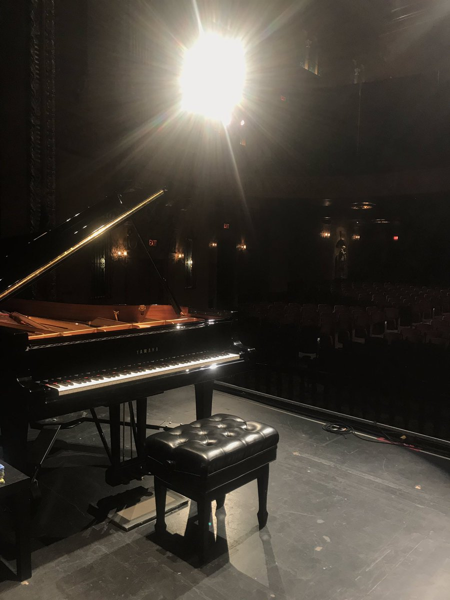 Spotlight ready for #AnEveningWithGeorgeWinston tonight at the Jefferson Theatre! Tickets will be available at the door.