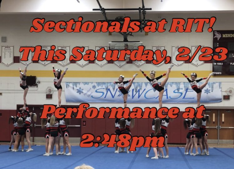 🚨SECTIONALS🚨 Come support HVC at RIT this Saturday!  2:48pm performance!  #BrickChasin @HiltonCadets @CadetCrew2019