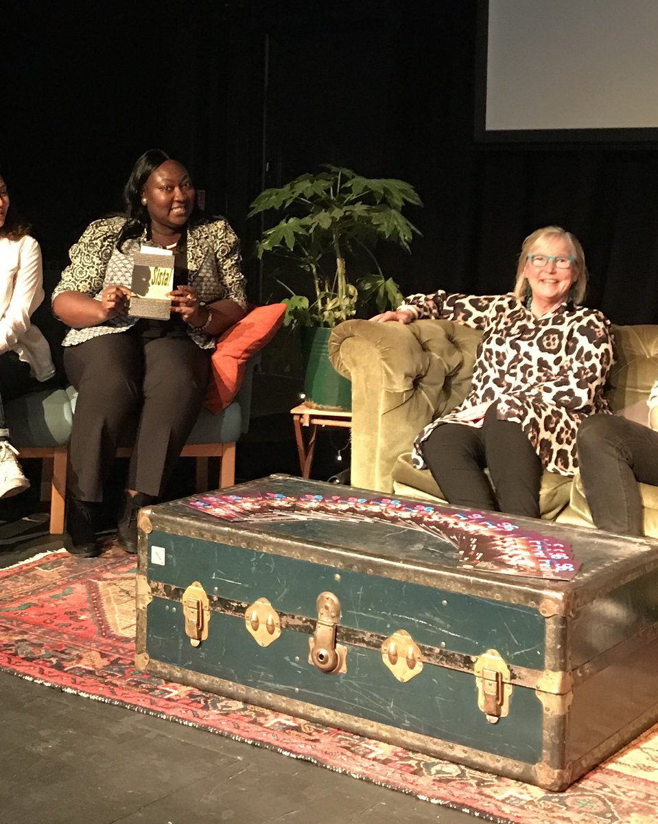 Such a joy! The indomitable @MsLadyPhyll had not only brought a copy of #Sista! but read 'BLACK SHE' by P. J. Samuels @Omnibus_Theatre launch of #96Fest in association with @DIVAmagazine. Great conversation with @LindaRiley8 @mcashmanCBE @rebeccaroot1969 on art and activism....