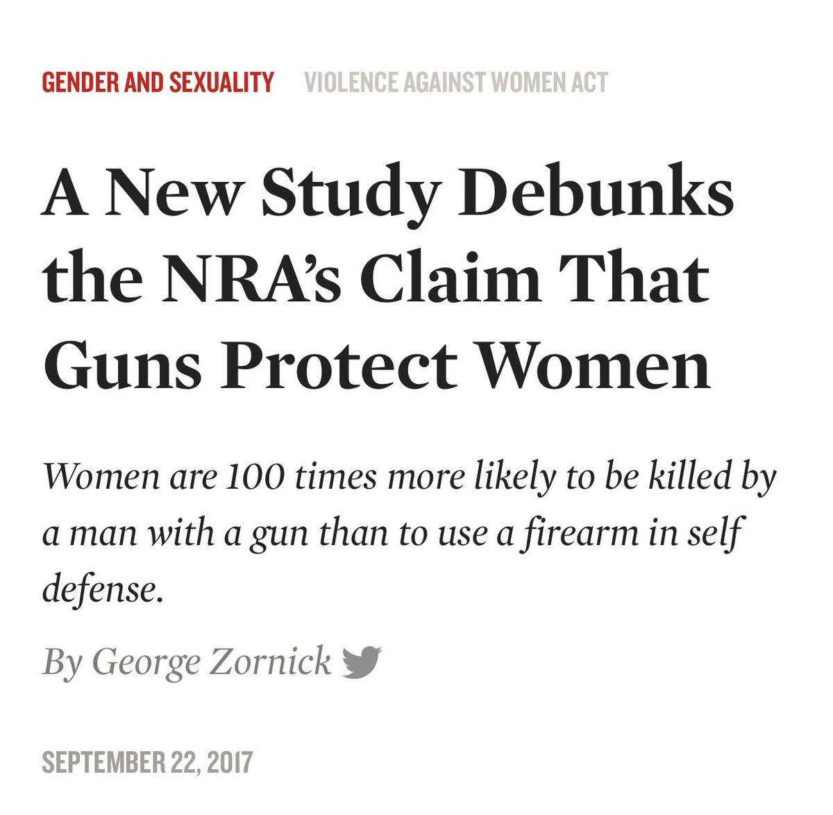 Estudo COMPROVOU que uma mulher com uma arma de fogo em casa tem 100 vezes mais chances de morrer pelo companheiro do que usá-la para defesa pessoal.  100 vezes mais chances de morrer.  Cem vezes.   https://t.co/aVsKnd0Oct