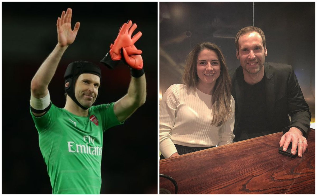 Sign the Cech!  Gunners goalkeeper Petr Cech took the entire Arsenal women's team out for a meal to congratulate them on their successful season so far. Legend!  MORE:  https://t.co/fNZgr2V9EE