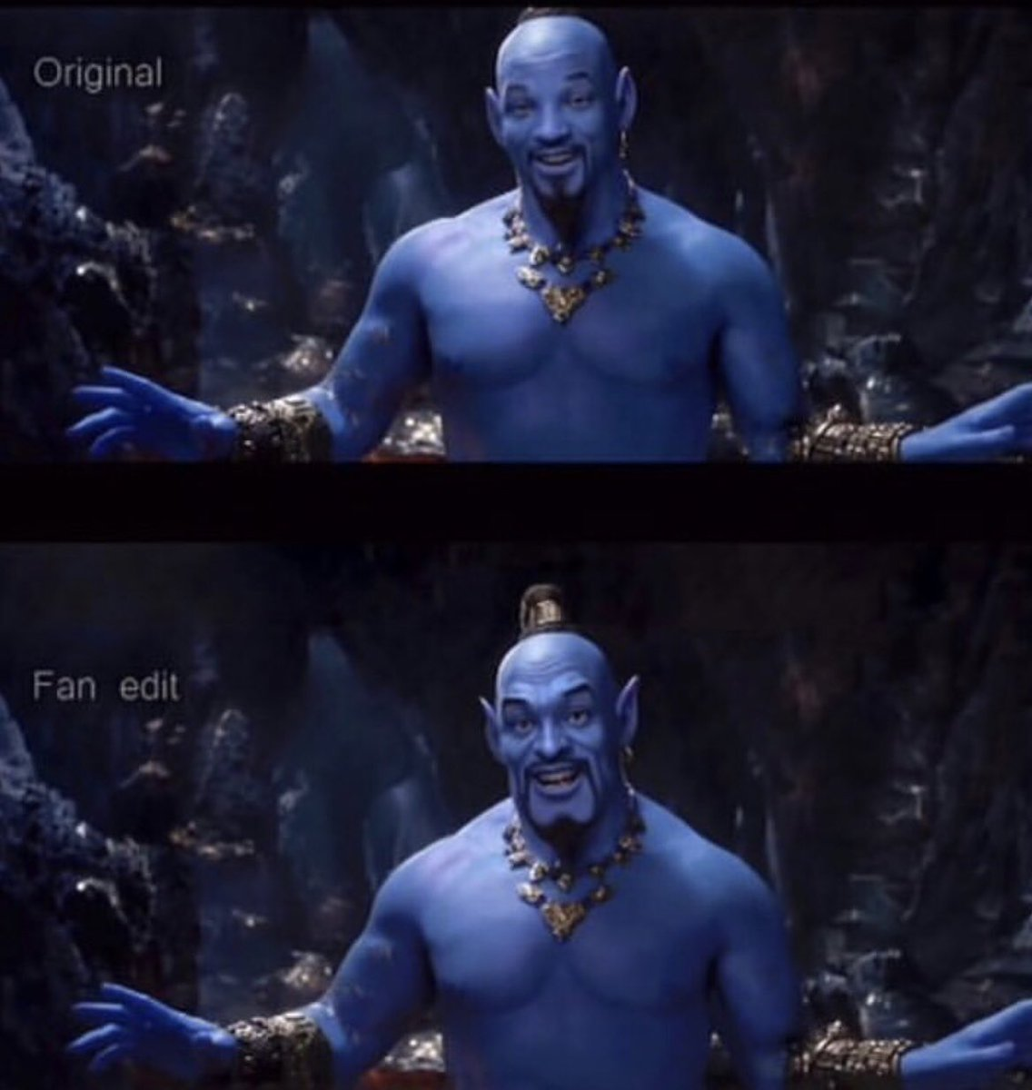 Now THIS is what the genie should look like! @disneyaladdin #Aladdin  #aladdinliveaction #aladdintrailer <br>http://pic.twitter.com/v0GgMCS1KP