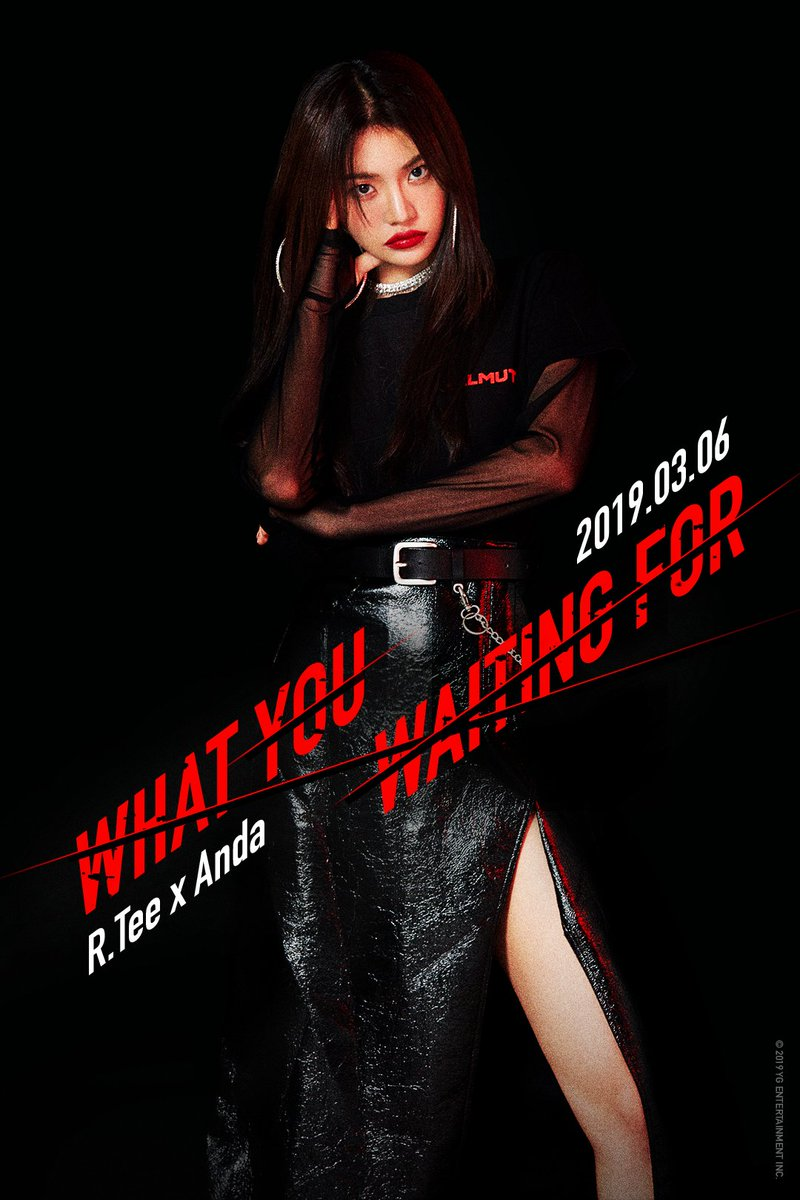 R.Tee x Anda '뭘 기다리고 있어(What You Waiting For)' TEASER POSTER #3  👉🏻 2019. 03. 06  #RTee #알티 #Anda #안다 #뭘기다리고있어 #What_You_Waiting_For #THEBLACKLABEL #YGX  #YG