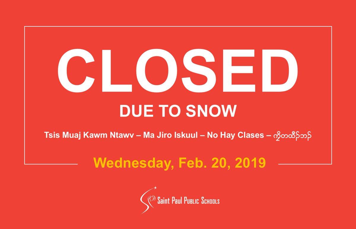 Spps Calendar.Saint Paul Public Schools On Twitter All Schools Will Be Closed