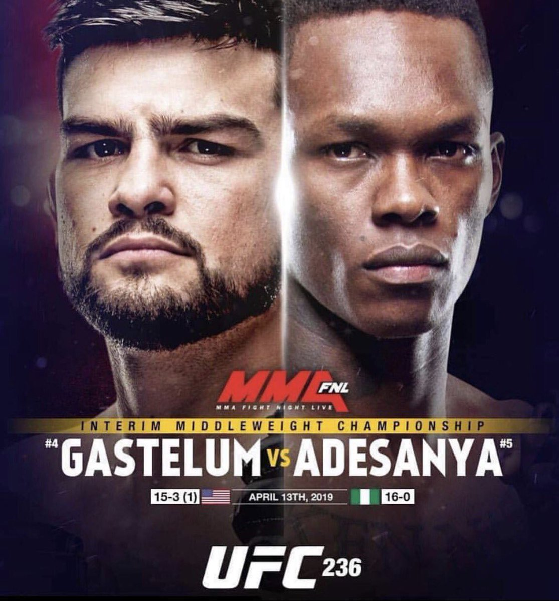 Let's go CHAMP! 😬😬😬 #UFC236