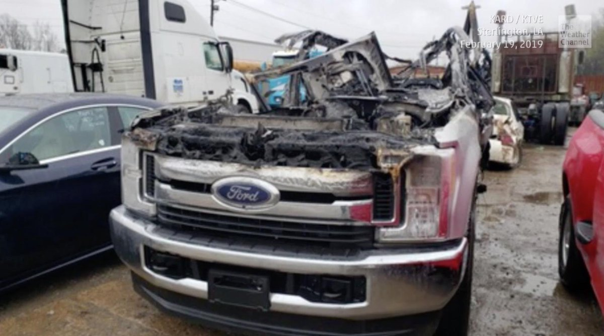 Lightning Struck A Pickup Truck In Northern Louisiana Earlier Today And This Was All That Remained