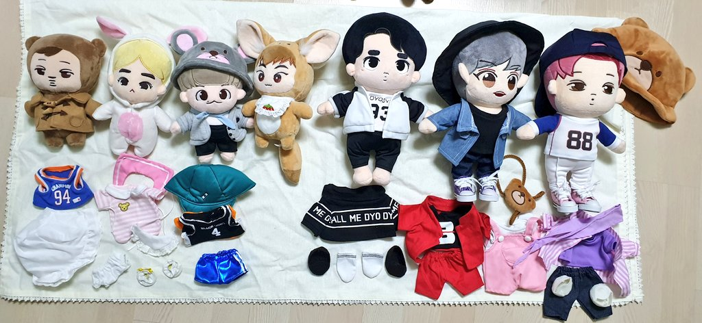 [INTEREST CHECK]  EXO DOLLS  Not yet onhand  Gominee - 4k CMB Sehun - 2k Sewoo - 2k Others - 1k each  DOP: FEBRUARY 26  Comment to reserve  * Need to get all to push through