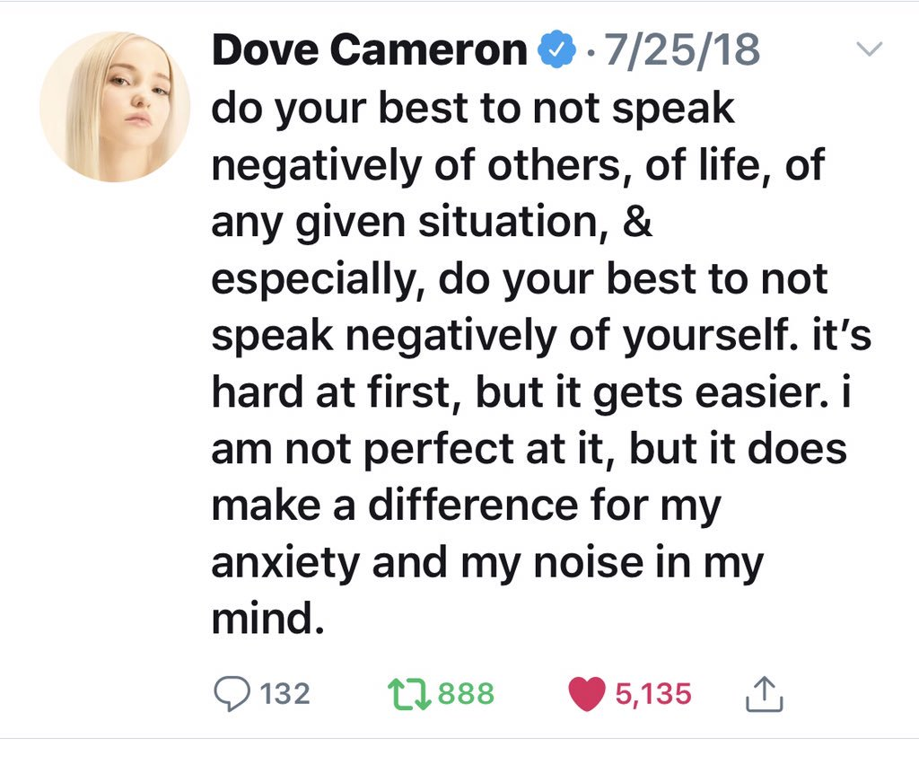 Dove Cameron's Fans Quoted Her Own Tweets to Her When She Opened Up About Feeling Overwhelmed