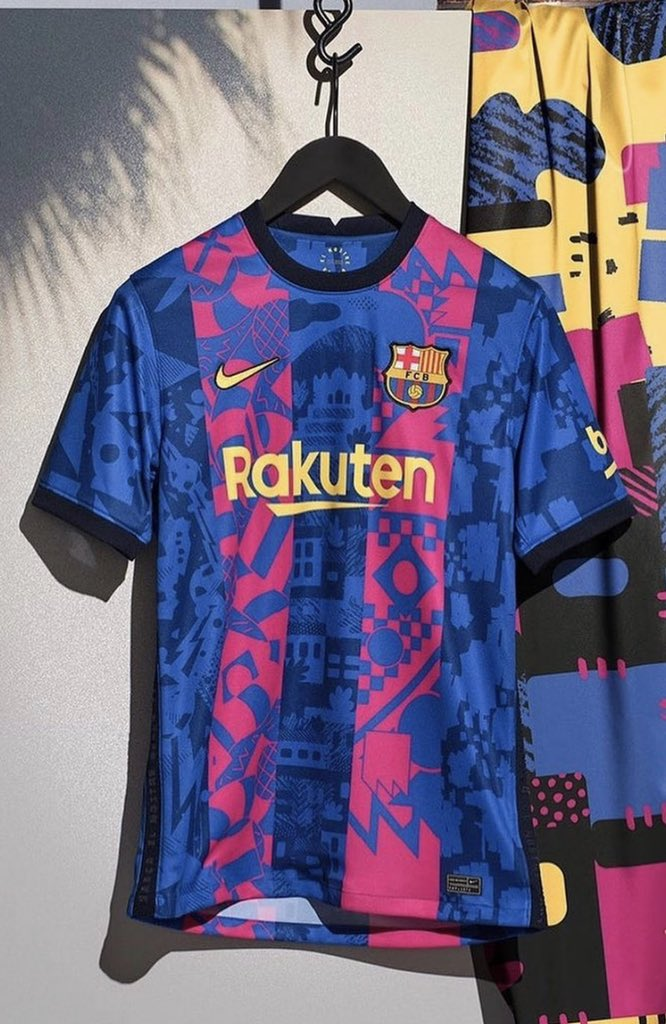 Barcelona's new third kit. Only to be worn in the Champions League. 🔥