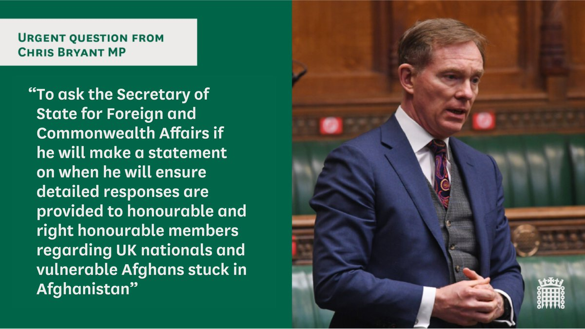 Earlier today, @RhonddaBryant asked an urgent question. Watch here: parliamentlive.tv/Event/Index/41…