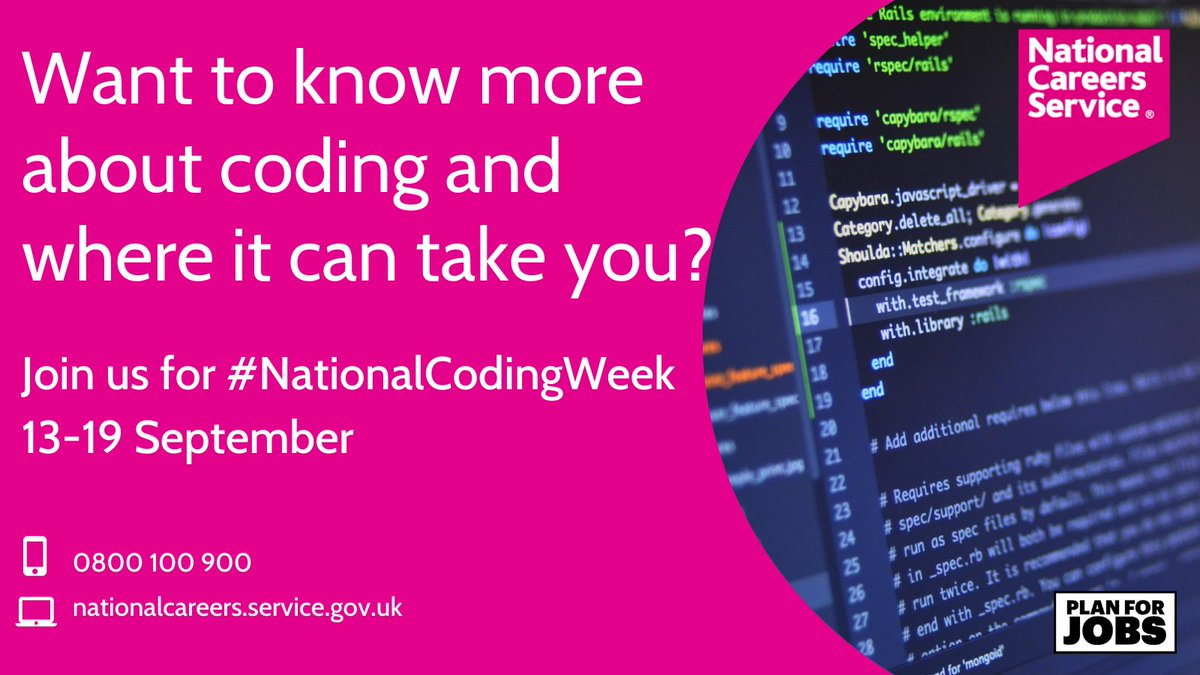 If you think that a career in coding could be for you, you might want to look at @NationalCareers as they explore just come of the possible roles available.   #ExeterWorks #ExeterWorksTogether #NationalCodingWeek