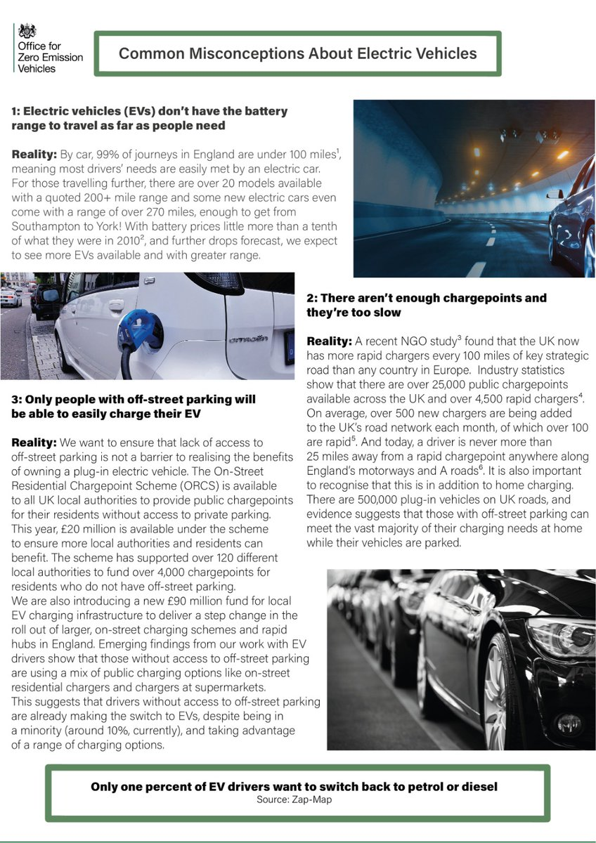 It's #WorldEVDay! To celebrate, we've produced a guide to dispel some common misconceptions of EVs⚡🚗 Our ambitious phase out dates and growing EV market also put us well on the road to creating thousands of green jobs ahead of #COP26👇 bit.ly/3l9Il8M