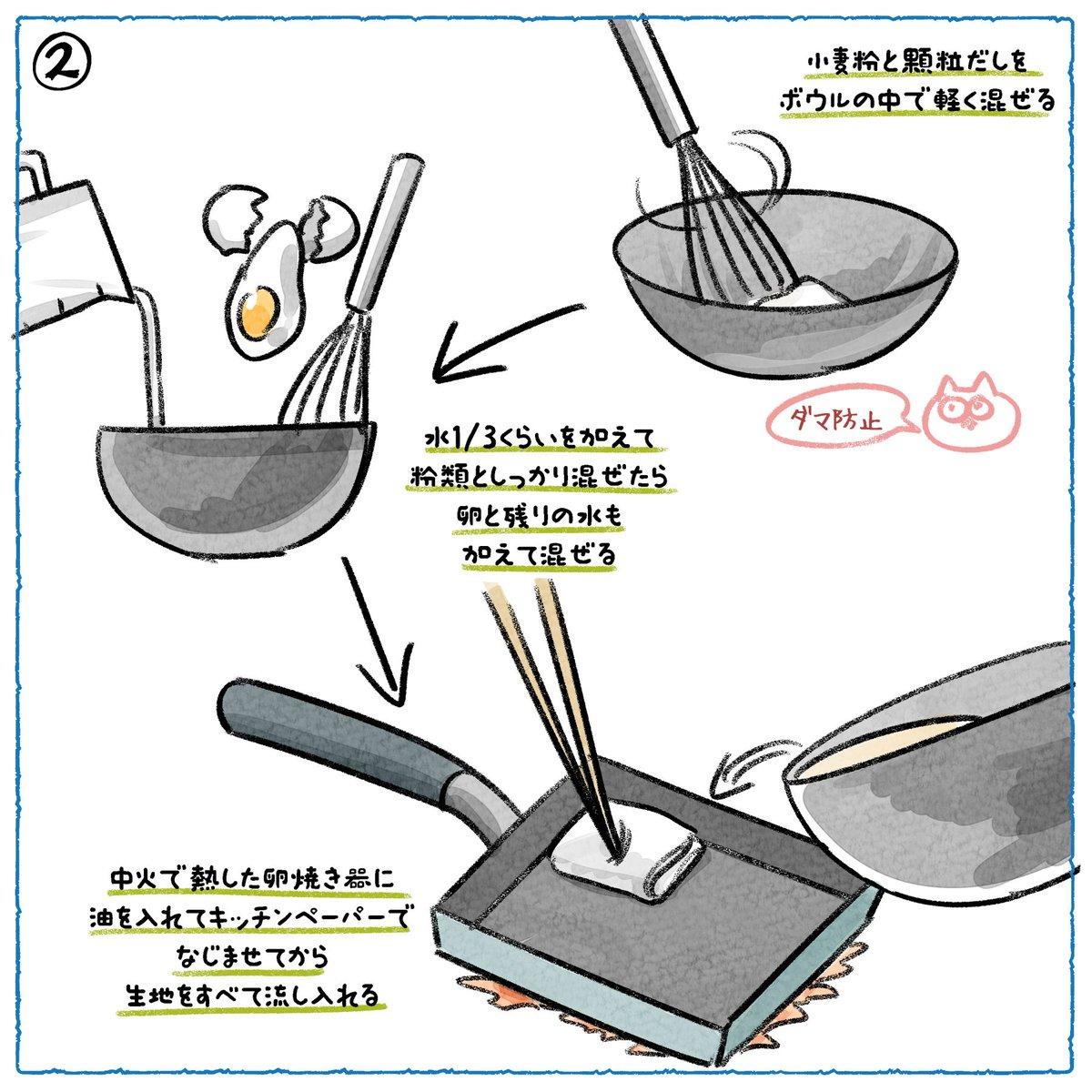 たこ焼き器で作るより時短出来ちゃう?!卵焼き器を使った、四角いたこ焼きのレシピ!