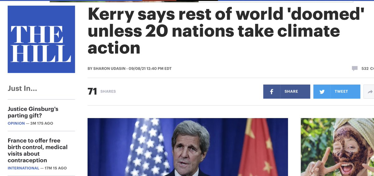 Kerry says 'the rest of world is doomed' unless 20 nations take 'bold action' on climate