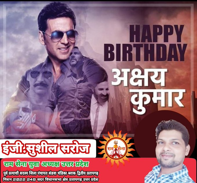 Happy 54th Birthday To One Of the Versatile Actors Of Bollywood, Akshay Kumar!!