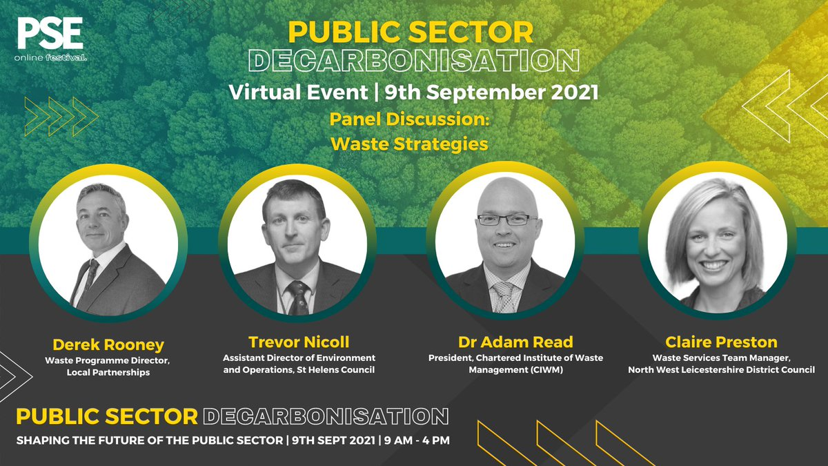 RT @psenews Such stimulating discussion on our Water Management panel, but don't miss out the Waste Strategies panel is starting now:  Derek Rooney, @LP_localgov Trevor Nicholl, @sthelenscouncil Dr Adam Read, @CIWM Claire Preston, @NWLeics   Haven't registered yet?https://t.co/x42weI6Aso