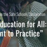 Image for the Tweet beginning: 👉Register Now! The #SafeSchoolsDeclaration conferencewill