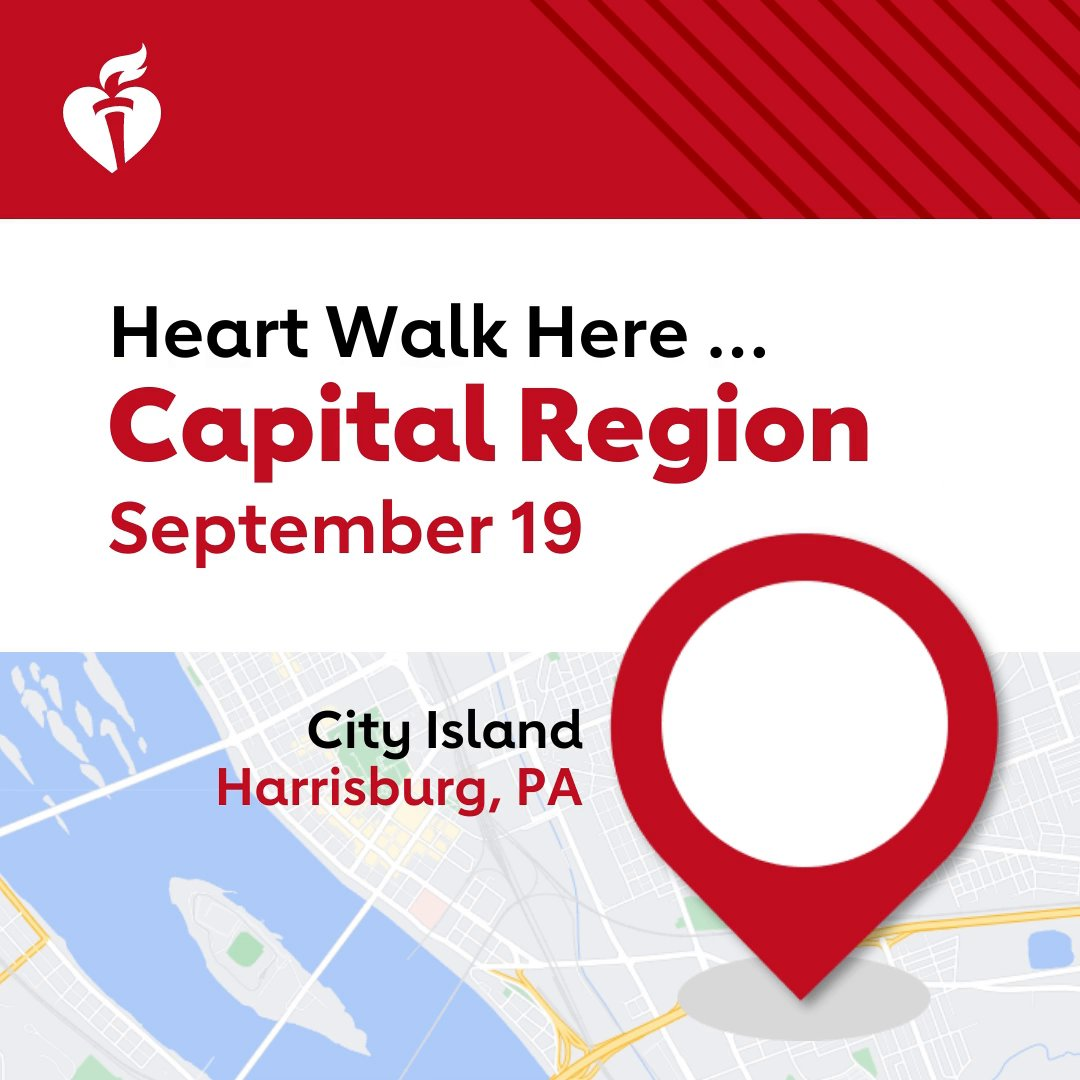 Image for the Tweet beginning: Join the Capital Region Heart