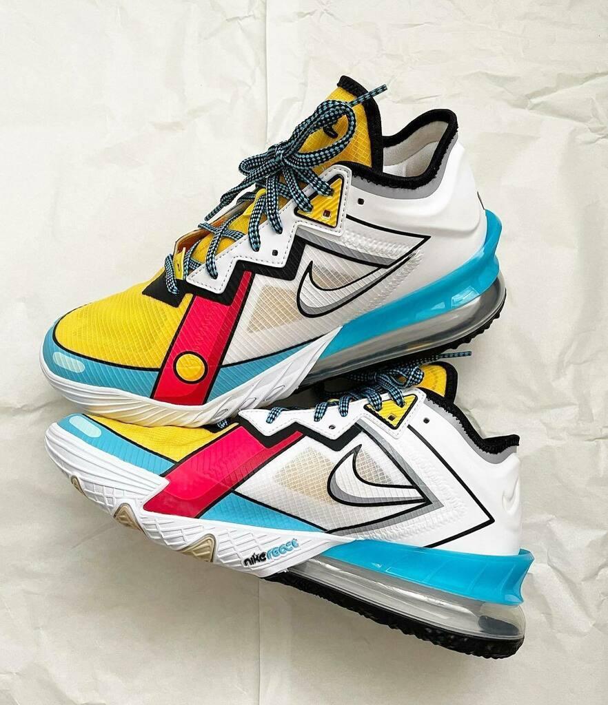 Restocked via Footlocker Nike LeBron 18 Low 'Cartoon Art'  =