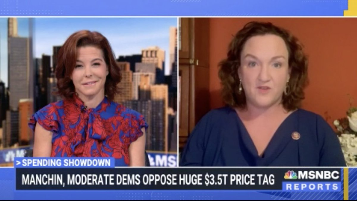 .@RepKatiePorter: 'It's dead on fiscally irresponsible for Sen. Manchin to refuse to raise revenue and at the same time—out of the other side of his mouth...that he uses to talk to his corporate donors—complain we can't pay for the things that American families desperately need.'