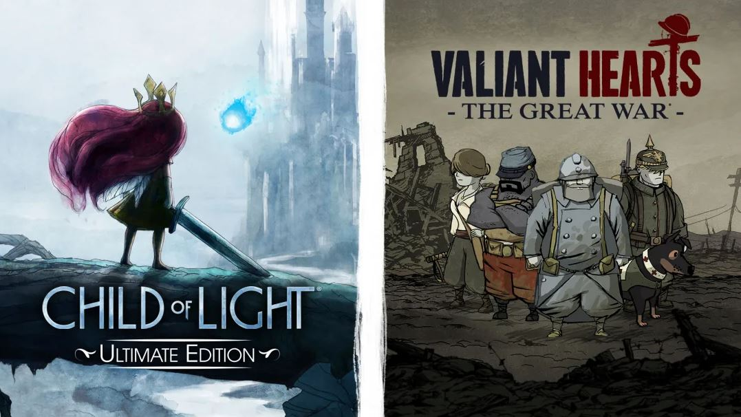 Child of Light Ultimate Edition + Valiant Hearts: The Great War (S) $7.49 via eShop.