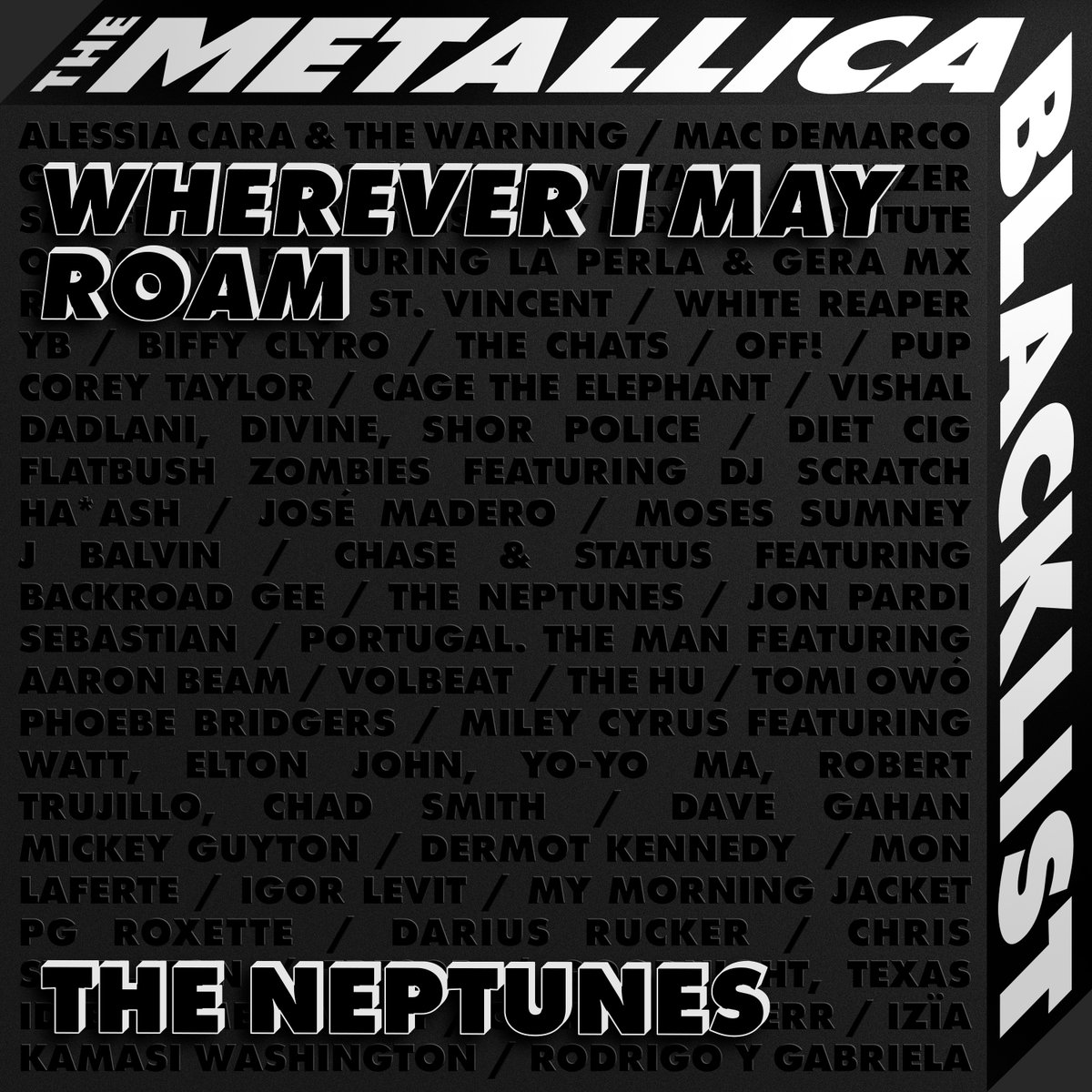 """The @Metallica Blacklist is out today with all streaming proceeds going to Metallica's @AWMHFoundation and @YELLOWORG 💛 Listen to #TheNeptunes remix of """"Wherever I May Roam"""" from The #MetallicaBlacklist https://t.co/c0vUFcUikc https://t.co/v5BBA32UsC"""
