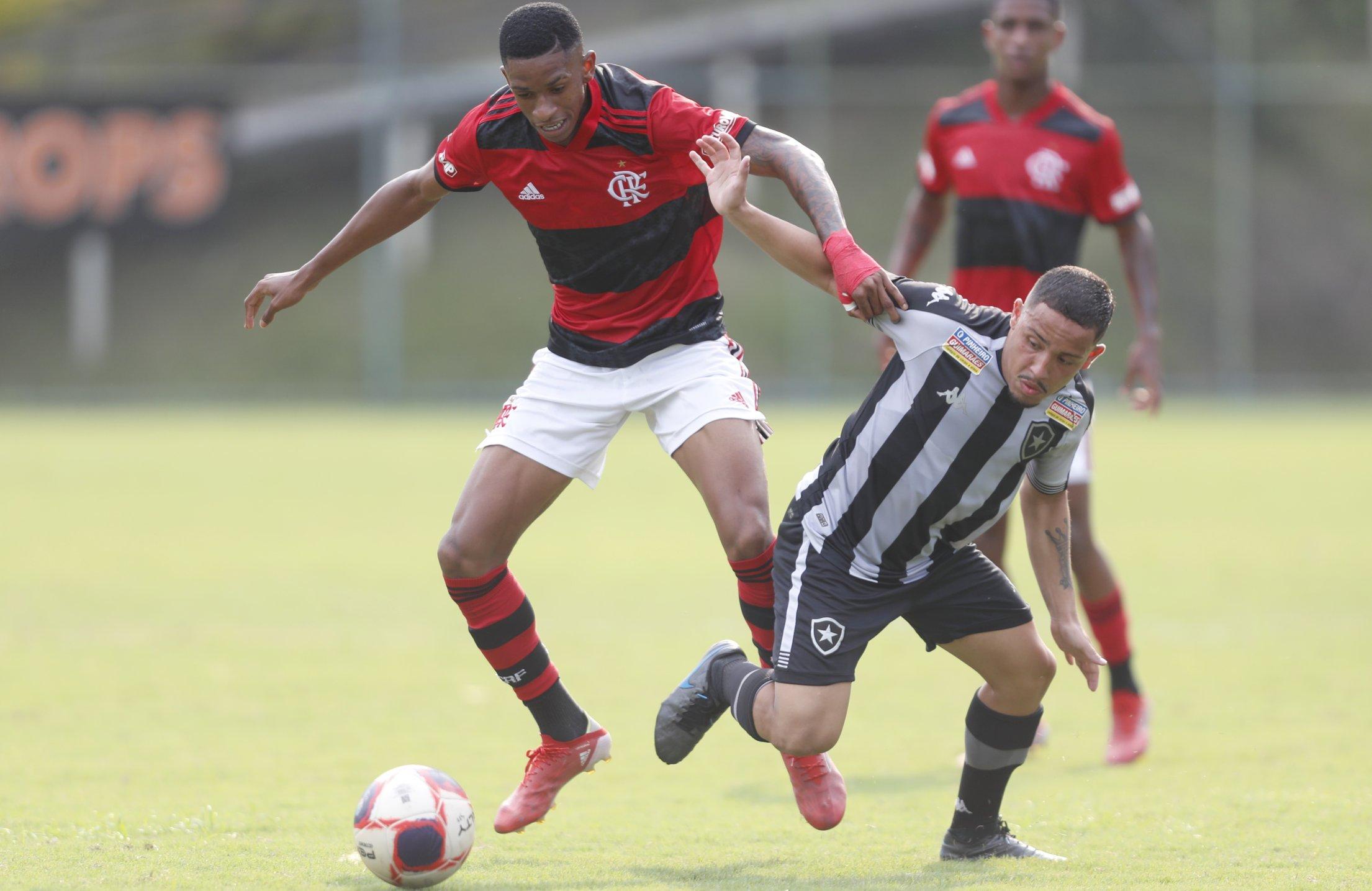 Sub-20: Flamengo larga na frente contra o Botafogo na semifinal do Carioca