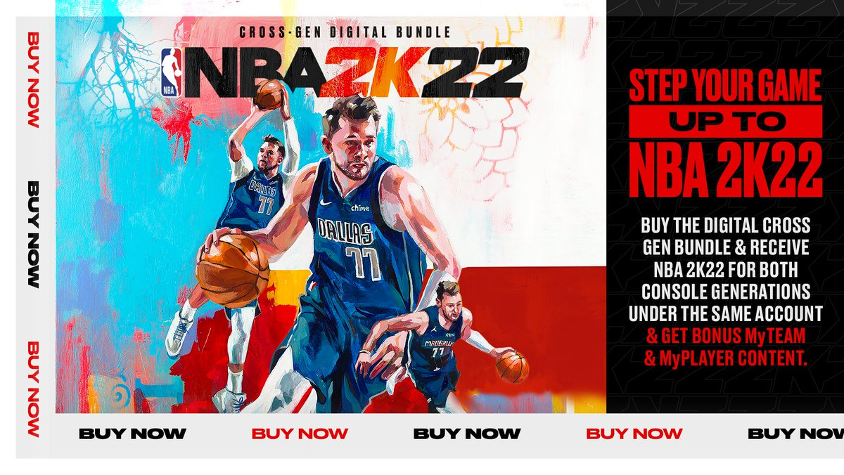 Who still needs 2K22? 🎮 Pick up the Digital Cross Gen Bundle & receive 2K22 for both console generations under the same account Includes bonus content too 👀 Get it here: nba.2k.com/buy