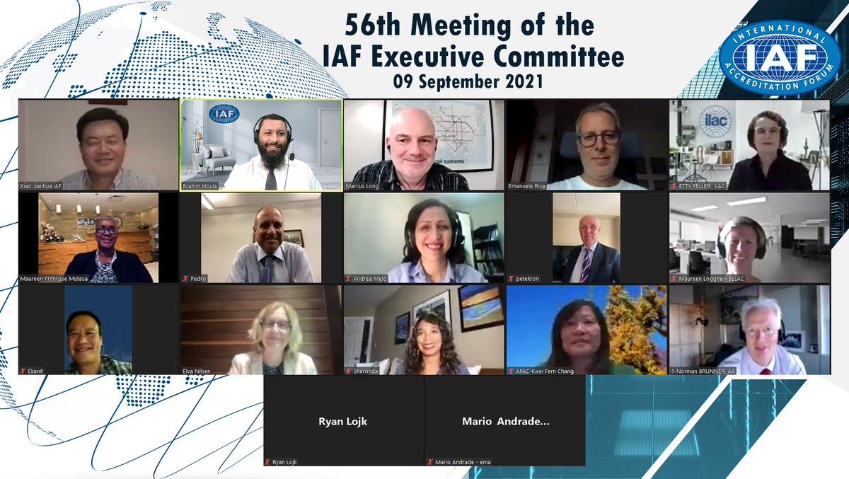 Image for the Tweet beginning: IAF Executive Committee members met