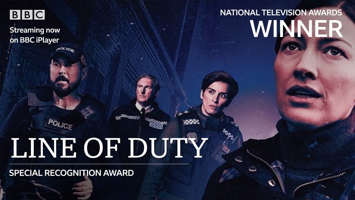 Congratulations to #LineOfDuty for winning the Special Recognition award at tonight's #NTAs