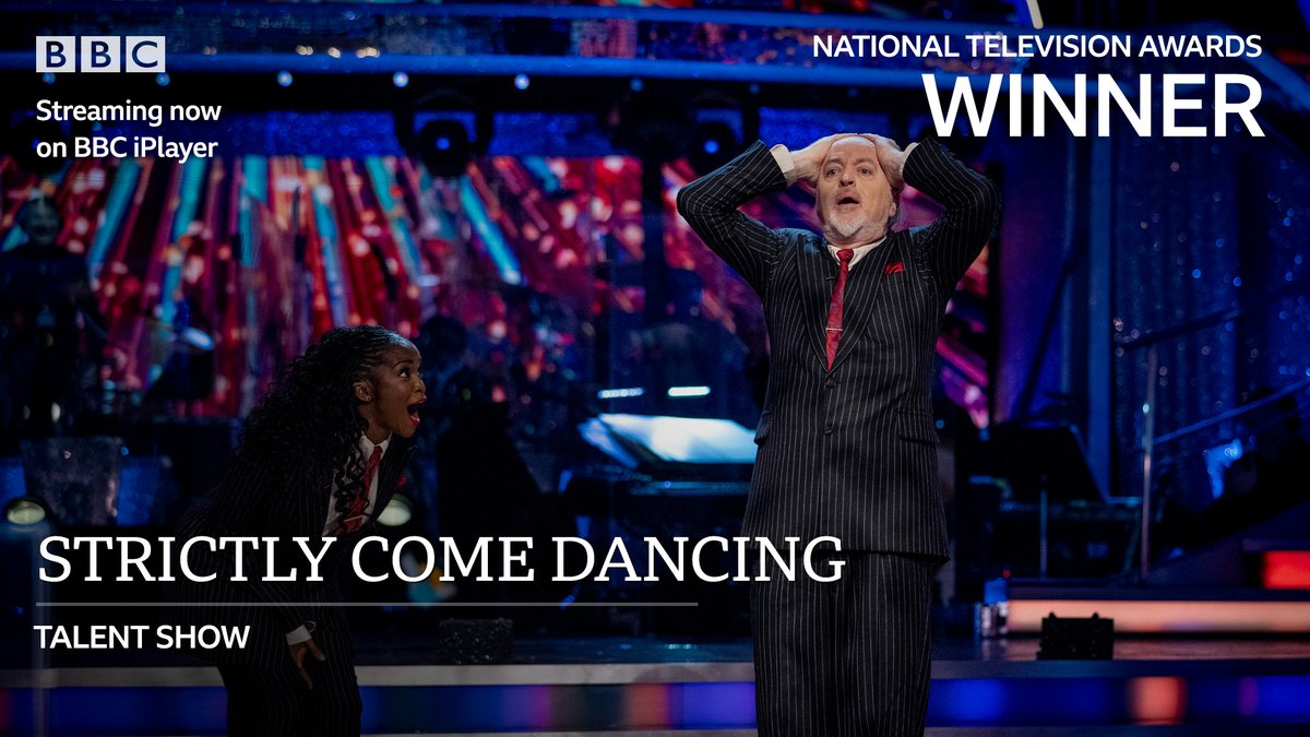 Congratulations to #Strictly for winning the Talent Show award at tonight's #NTAs