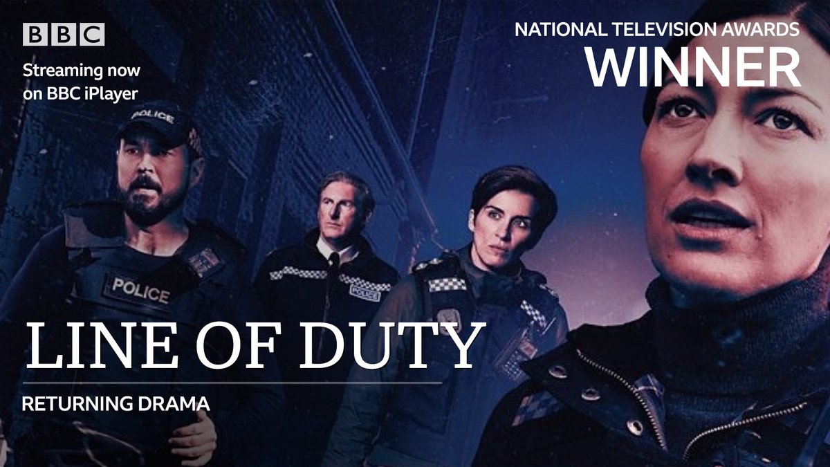 Congratulations to #LineOfDuty for winning the Returning Drama award at tonight's #NTAs
