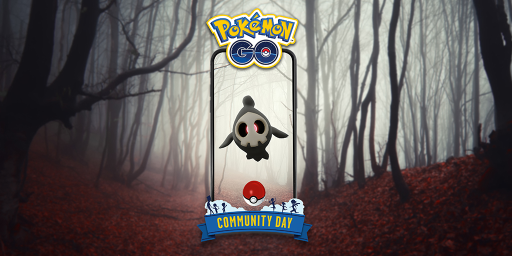 👻 Don't get startled, but October's #PokemonGOCommunityDay will feature Duskull, the Requiem Pokémon, on October 9! Save the date! pokemongolive.com/post/community…