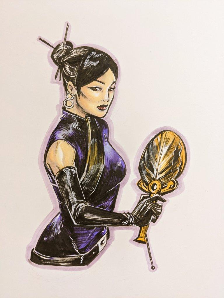 Lady Iron Fan from the stream tonight!