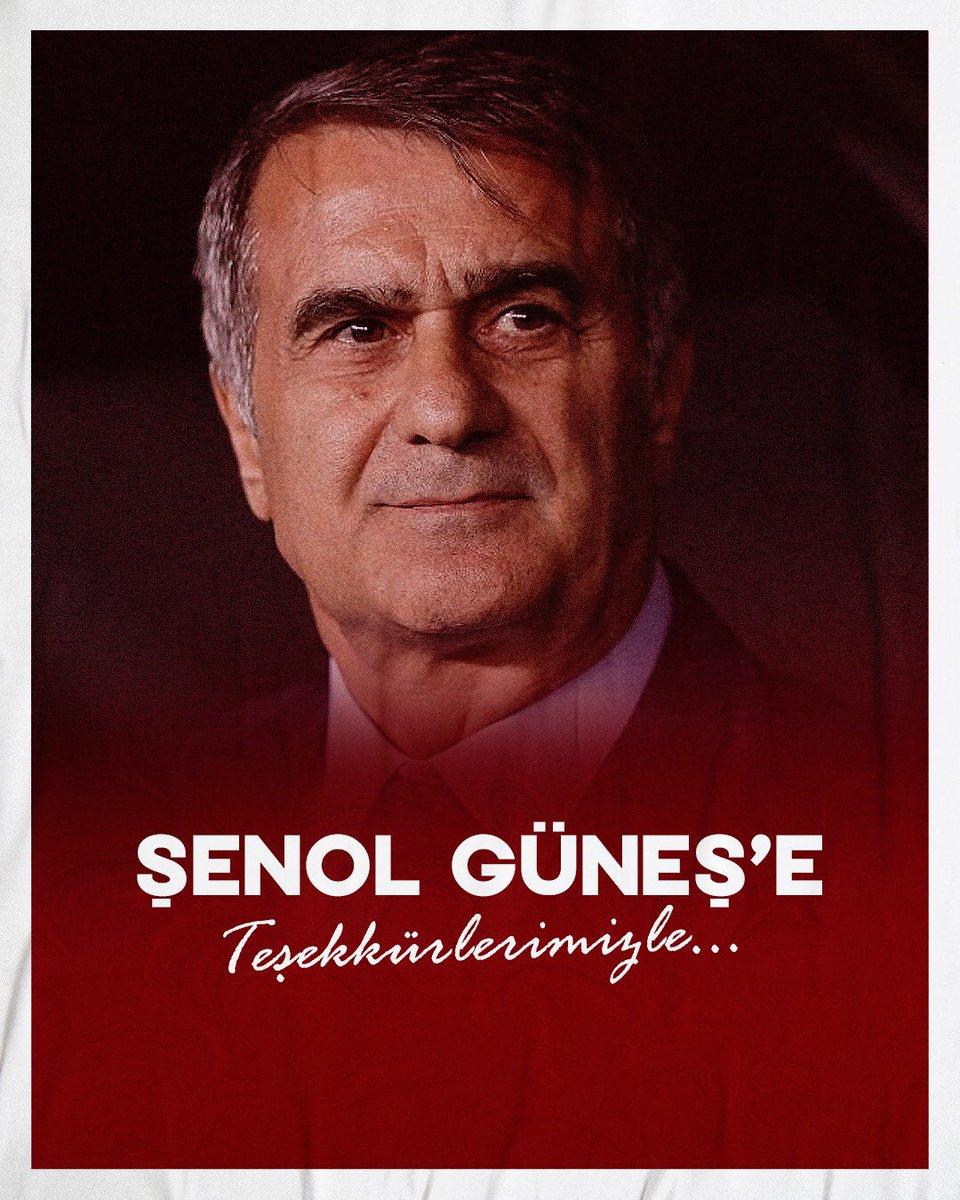 A Millî Takım Teknik Direktörümüz Şenol Güneş ile yapılan görüşmeler sonrasında karşılıklı olarak yolların ayrılmasına karar verilmiştir. Değerli hocamız Sayın Şenol Güneş'e görev sürecindeki çalışmaları ve Türk futboluna yaptığı katkılar için teşekkür ederiz.