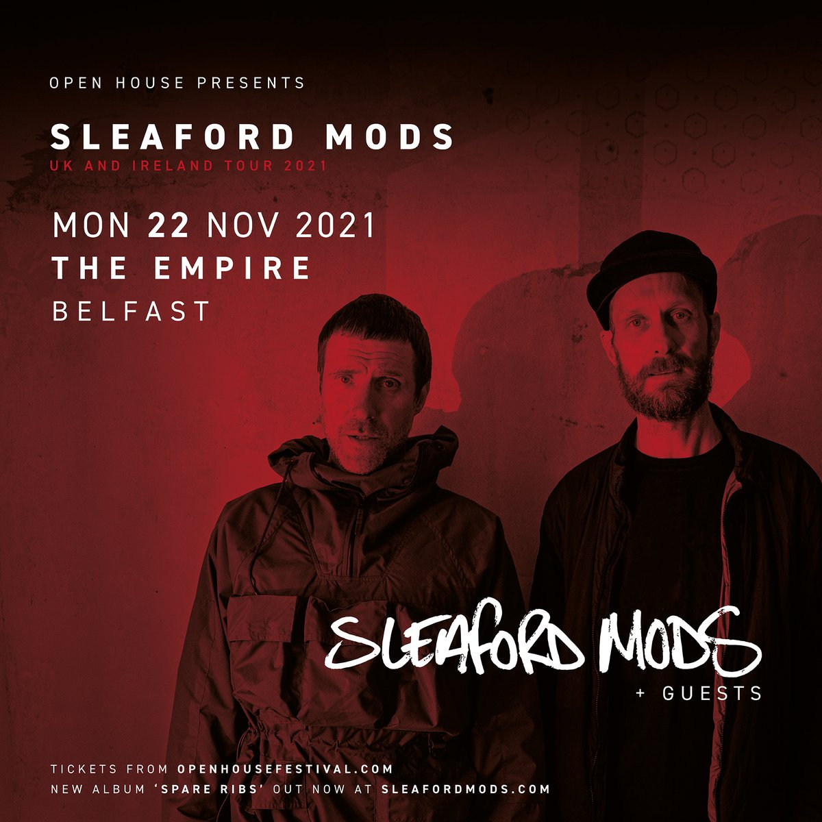 Gentle reminder... tickets for @sleafordmods at @belfastEmpire go on sale at 10am from openhousefestival.com/year-round-sho…