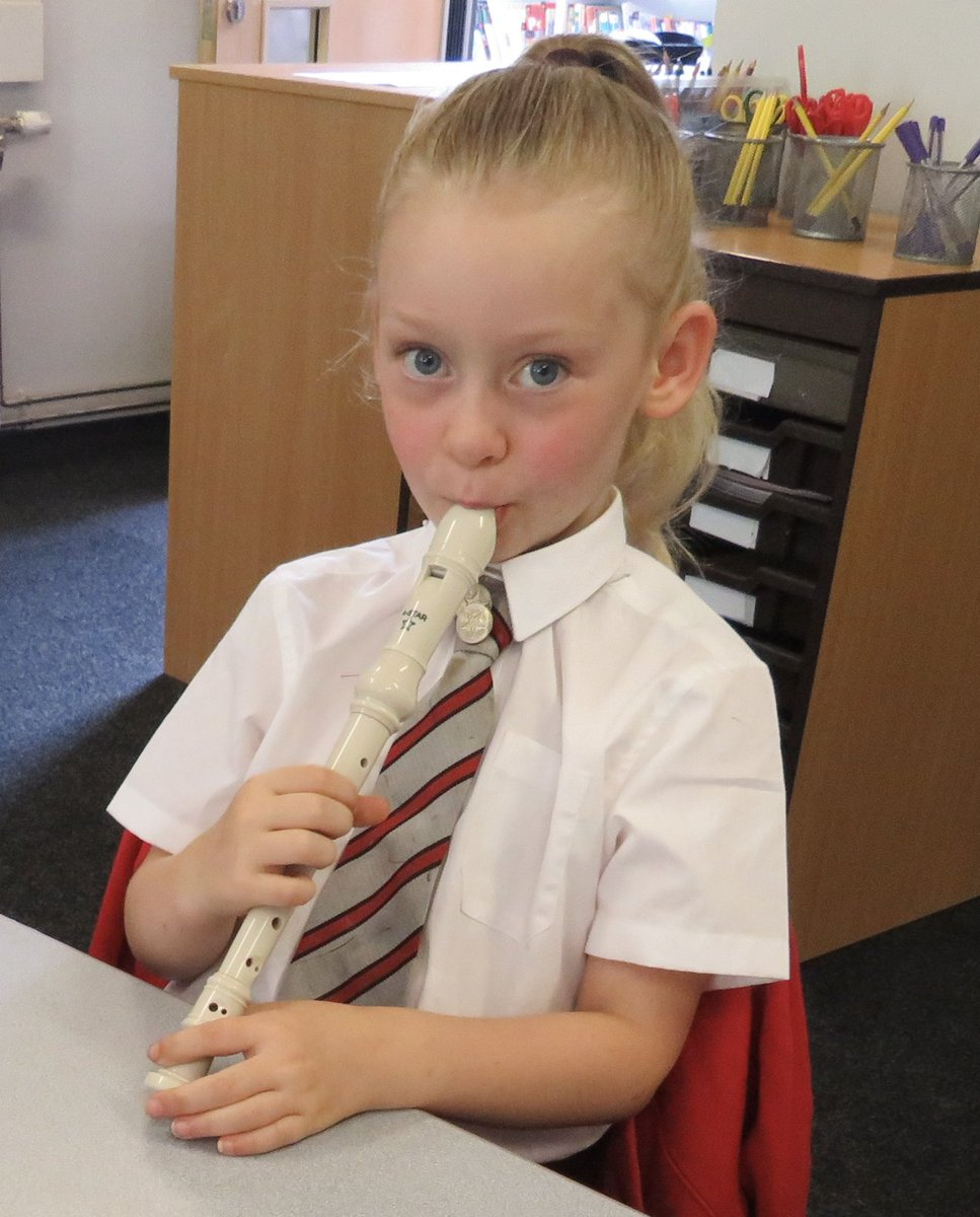 Here's some snaps of our Year 2 students playing recorders 🎶