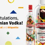 Image for the Tweet beginning: Congratulations to Lithuanian Vodka! With