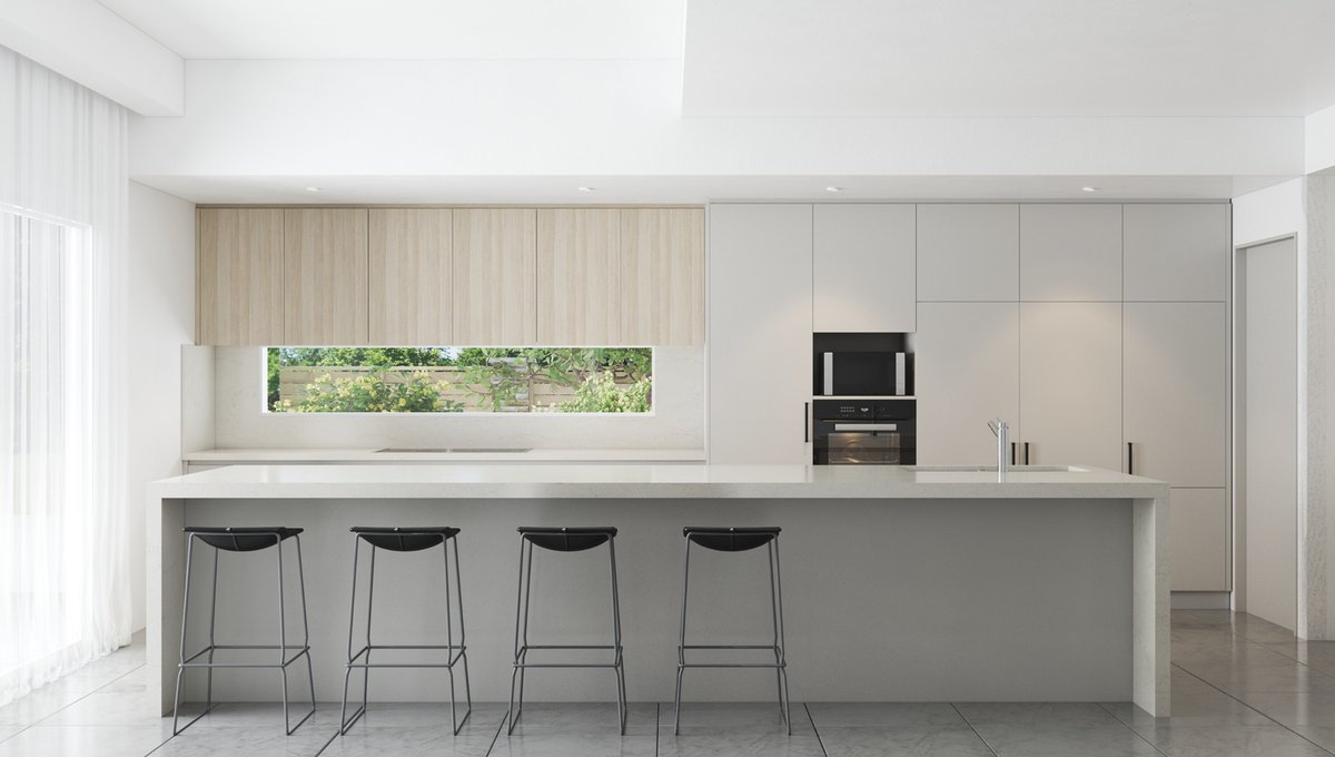 🤍 Did you know that white kitchens have a timeless appeal making it a popular choice for many people? White spaces come across as clean and fresh, the color optimizes light and space, making rooms appear larger. ⚒️ Divine kitchens Surface: Silestone Eternal Calacatta Gold