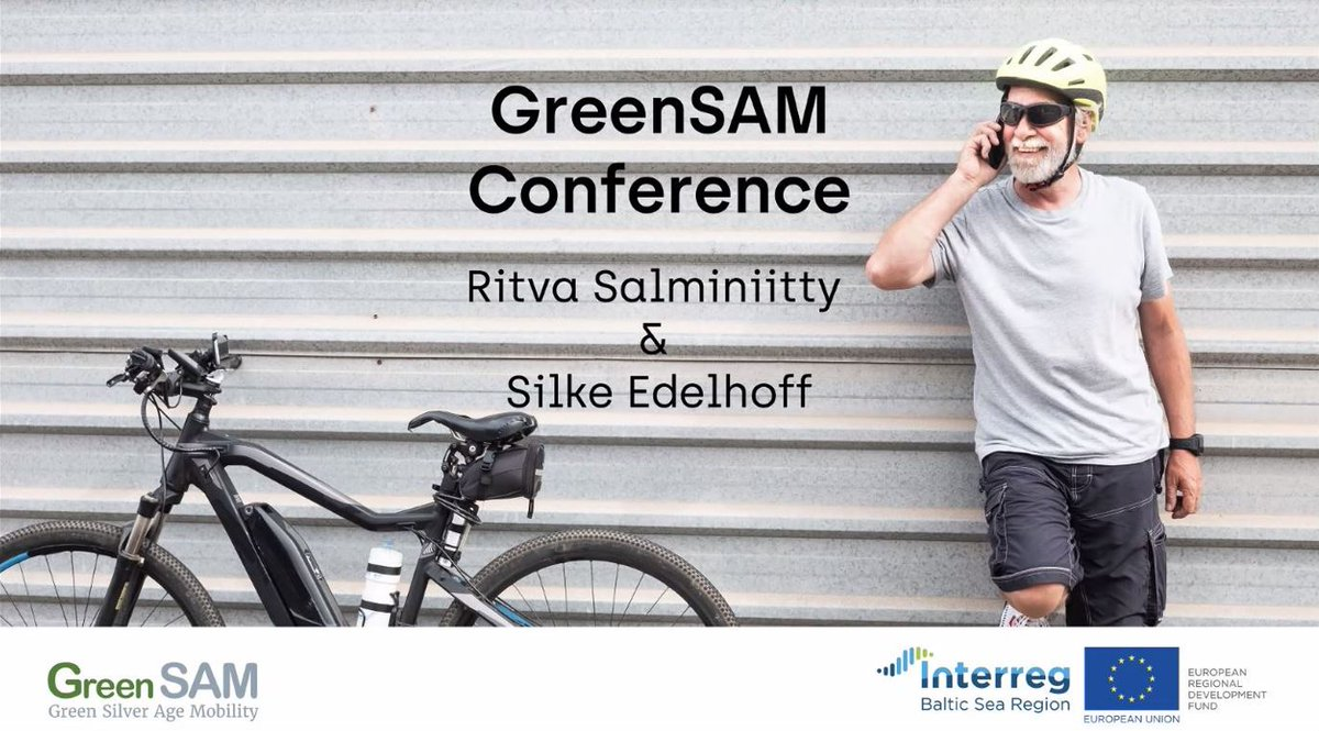 What do #seniors and #greenmobility have in common? Check out what our #Interreg project @GreenSAM_BSR  worked on for the past three years!  #MadeWithInterreg #EUinmyRegion