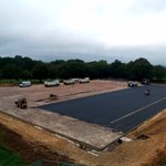 With construction well underway it won't be long until the children can enjoy the full sized Astro pitch! #copthorneprep #astropitch