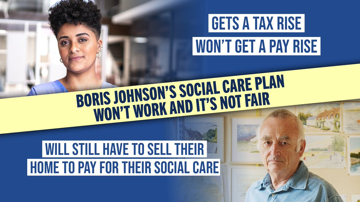 Boris Johnson's plan won't work and it's not fair. Most of the tax rise won't even go towards social care. And working people are being made to foot the bill.