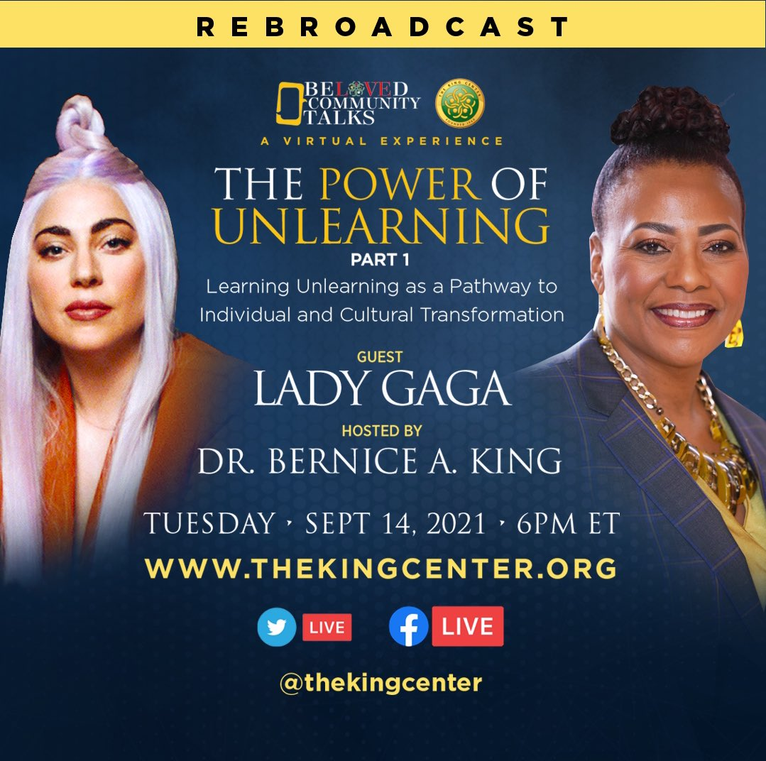 Another opportunity to experience my powerful conversation with @ladygaga!