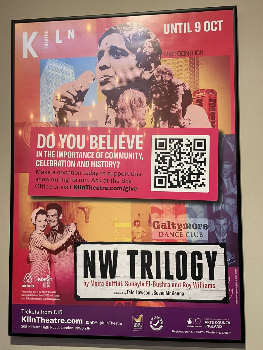 I absolutely loved #NWTrilogy at @KilnTheatre this evening. Three beautifully told plays that bring to life the rich and diverse tapestry of London #kilntheatre #theatre #london #northwestlondon #kilburn